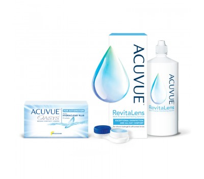 Zestaw ACUVUE® OASYS for ASTIGMATISM 6 szt. i ACUVUE® RevitaLens® 100 ml