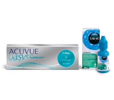Zestaw ACUVUE® OASYS 1-Day 30 szt. i blink® contacts 10 ml