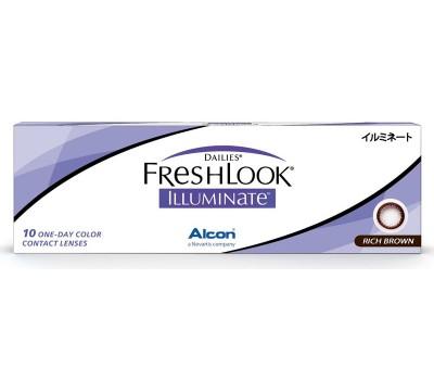 Dailies® FreshLook® Illuminate™ Rich Brown 30 szt. - zerówki