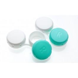 Zdjęcie: Pojemniczek na soczewki biało-zielony